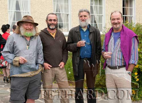 Photographed at the Clonacody Country House barbecue evening are L to R: Stevie O'Connor, Bill Kennedy, Joe Kenny and John Shortall