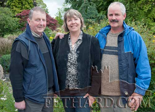 Photographed at the Clonacody Country House barbecue evening are L to R: Joe Carroll, Beverly Munro and Tony Dolan