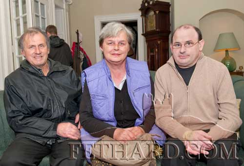 Photographed at the Clonacody Country House barbecue evening are L to R: Tommy, Mary and Aidan Culligan