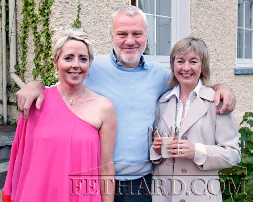 Photographed at the Clonacody Country House barbecue evening are L to R: Helen Carrigan, Tim Robinson and Kate Corcoran