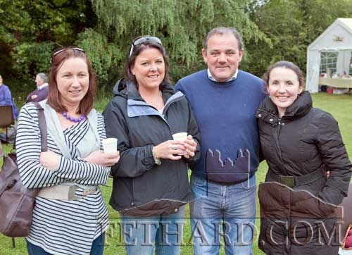 Photographed at the Clonacody Country House barbecue evening are L to R: Aine Knightly, Frances Boyle, Sean Brett and Emily Graafland