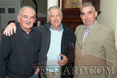 Photographed at the Clonacody Country House barbecue evening are L to R: Jimmy O'Shea, Larry O'Gorman and Michael O'Dwyer