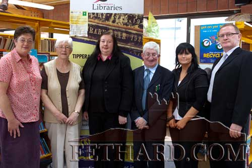Photographed at the launch of the 'Gardens & Parks of Tipperary' photography competition held in Clonmel Library are L to R: M. Boland, Clonmel Library, Kathleen Halpin, Clonmel Credit Union, D. Feery, Cashel CU, D. Harnett and G. Bennett, Cahir CU and S. McDonnell Carrick-on-Suir Credit Union.