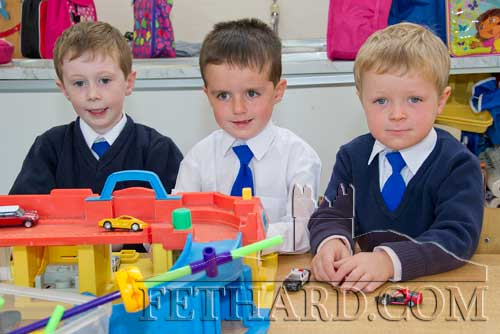 First day at school at Holy Trinity National School L to R: Charlie Brennan, Danny Hayes and Liam Kiely