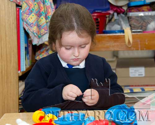 Rebecca Needham enjoying her first day at Holy Trinity National School