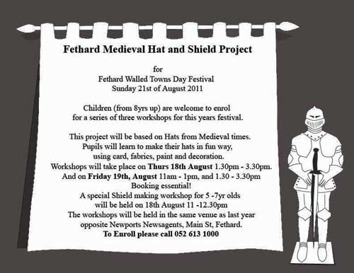 Fethard Hat Project for Medieval Festival
