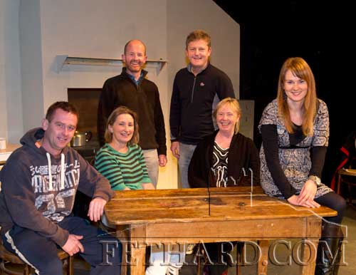 Fethard Players cast members rehearsing for their forthcoming play, 'The Year of the Hiker' which will be staged in the Abymill Theatre from Friday, November 11, to Wednesday, November 16. Booking now open at O'Flynn's Menswear, Fethard. Tel: (052) 6131254 or 087 1604260. Standing L to R: Colm McGrath, Jimmy O'Sullivan. Sitting L to R: Pat Brophy, Rita Kenny, Ann Walsh and Niamh Hayes. Also in the cast is Ciarán Mullally.