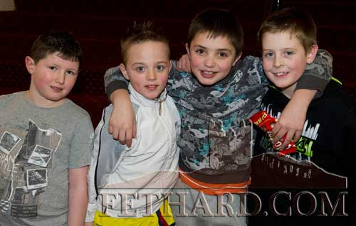 Photographed at the Boxing Tournament at Fethard Ballroom are L to R: Dean Keane (Fethard), Dean Lee (Clonmel), Cian Ryan (Clonmel) and Kenny Dillon (Clonmel)