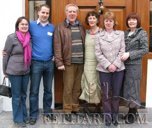 Members of Fethard Historical Society attending a  conference at Springfort Hall Hotel, Mallow. L to R: Marie Taylor, John Hassett, John Cooney, Dóirín Saurus, Catherine O'Flynn and Mary Hanrahan.