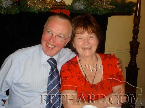 Michael Kenrick and Marie Murphy photographed at the Abbey Choir christmas party