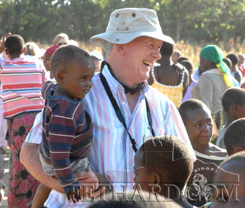 Seamus Hayes, Kilconnell, Fethard, with his hands full in Africa