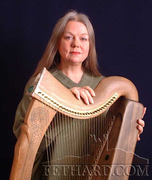 Ann Heymann (USA), one of the world' s finest historical harpists who will join harpists Andrew Lawrence-King (Guernsey) and Siobhán Armstrong (Ireland) at the Fethard Town Wall Medieval Festival concert, 'Echoes of a Gaelic Chieftains' Castle', at 8pm in Holy Trinity Church of Ireland, on Friday, August 19.