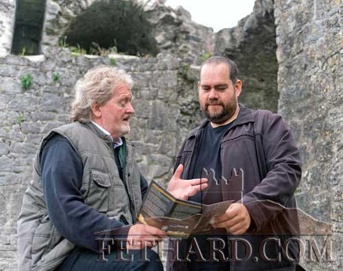 Terry Cunningham (Fethard Historical Society) photographed with Australian writer, Tim Richards (right), who visited Fethard to learn more of Ned Kelly's family background. Tim is a member of the Australian Society of Travel Writers.