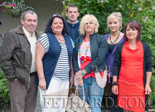 Photographed at the Clonacody Country House barbecue evening are L to R: Robert Lamphier, Maureen Kerwick, Festy Kerwick, Alice Hickey, Leanne Platt and Dane Griffin