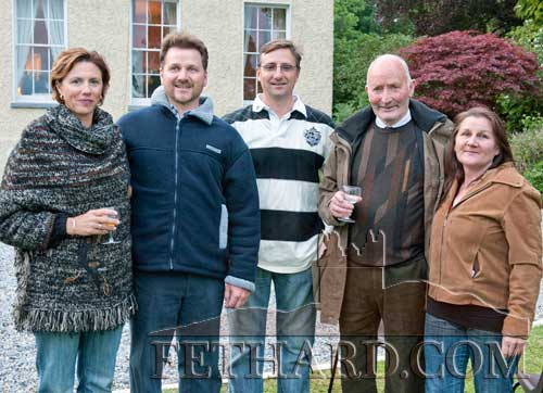 Photographed at the Clonacody Country House barbecue evening are L to R: Jane Beynor, David O'Gorman, Wayne Beynor, Toby Purcell and Emly Graafland