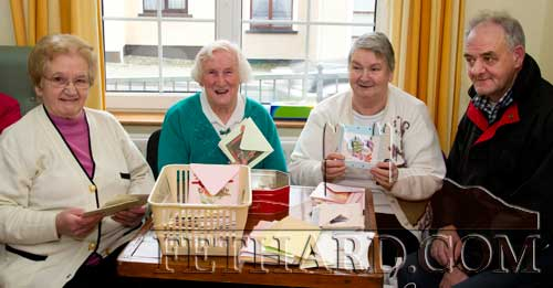 Helping at the Fethard Day Care Centre Christmas Bazaar are L to R: Peg O'Reilly, Kitty O'Sullivan, Margaret Thompson and Noel Coffey