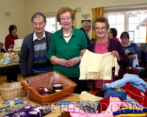 Helping at the Fethard Day Care Centre Christmas Bazaar are L to R: Des Martin, Mary Danagher and Eileen Ryan