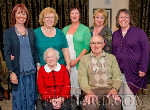 Tony and Mary Newport photographed with their five daughters L to R: Catherine, Margaret, Liz, Lydia and Edwina on the occasion of Tony's 80th birthday.