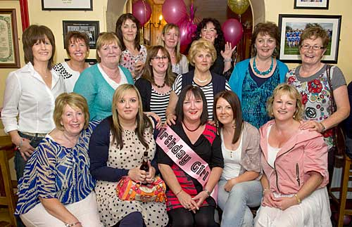 'Birthday Girl' Ann Butler celebrating her 50th Birthday with friends recently at Butler's Bar, Fethard.