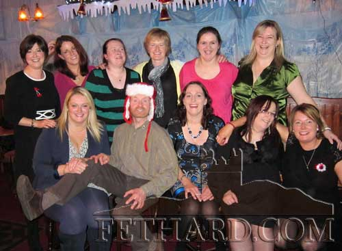 Colm McGrath photographed with members of his 'Gi Joe's Bootcamp' enjoying their Christmas Night out in Lonergan's Bar.