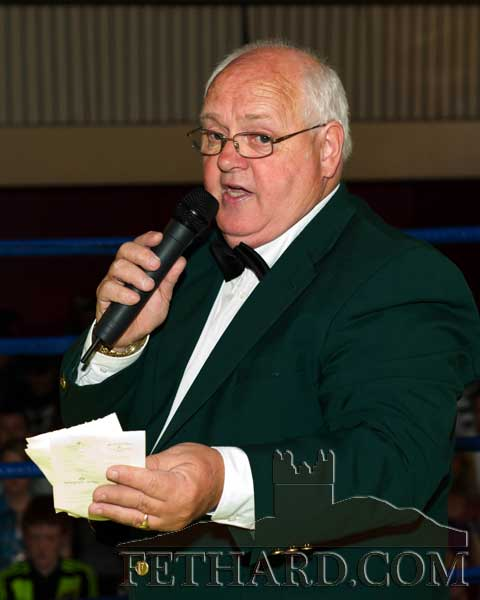 Master of Ceremonies at the Boxing Night on Saturday, Miceál McCormack, added a touch of panache to the evening's proceedings.