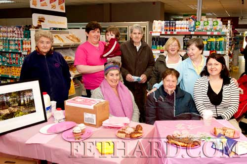 Photographed at the Coffee Morning in aid of Breast Cancer at Centra Supermarket are Front L to R: Helen Coady, Nellie Croke, Noleen Drohan. Back L to R:  Joan O'Meara, Niamh Moroney, Jason Keny, Michael Keane, Anne Lacey and Carol Kenny.