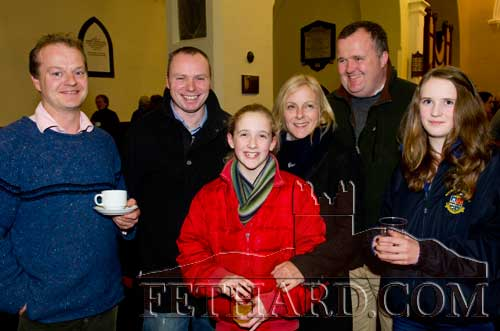 Photographed at the Christmas Carol Service at Holy Trinity Church of Ireland are L to R: Michael ffrench Davis, Adrian Morrissey, Zoë̈ Stoke, Melissa Stokes, John Stokes and Caroline Stokes.