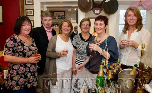 Photographed at the Champagne and Strawberry Social Evening at Town and County, Fethard, last weekend are L to R: Ann Butler, Maurice Mannion, Sally Hayes, Pauline Mulcahy, Mary Mullally and Susan Archdeacon (Town & County Shop, Fethard).