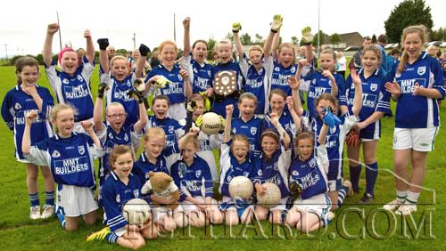 Fethard Under 12 Girls celebrate their win over Boherlahan in the County Final on Saturday, June 25. (photo - Kieran Butler)