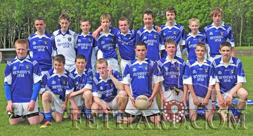 Fethard Under 16B South Football Champions 2011. Back L to R: Dion Butler, Charlie Manton, Paul Moloney, Eoin O'Donovan, Kyle Walsh, William Morgan, David Hayes, Andrew Phelan, Tommy Anglim. Front L to R: Eoghain Hurley, Jack Purcell, Alex O'Donovan, Gerard Gorey, Adam Fitzgerald, Brian Healy (captain), Joedy Sheehan and Niall Doocey. (Photo Kieran Butler)