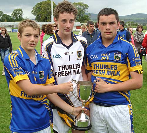 Fethard players on the successful Tipperary U-14 team L to R: Joedy Sheehan, Charlie Manton and Adam Fitzgerald