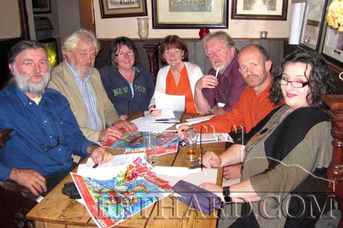 Members of this year's Town Wall Medieval Festival steering committee photographed finalising plans for this year's festival which takes place from Friday, August 19, to Sunday, August 21. L to R: Joe Kenny, Liam Noonan, Edwina Newport, Mary HAnrahan, Terry Cunningham, Colm McGrath and Pat Looby.