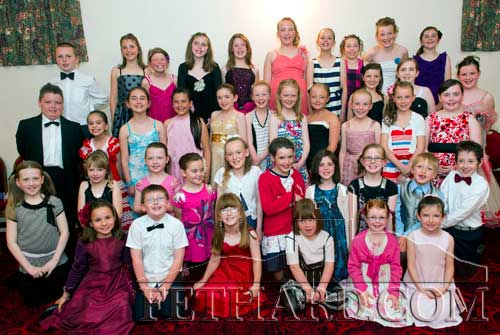 Some of the dancers from Holy Trinity National School who took part in the Ballroom Dancing exhibition in Fethard