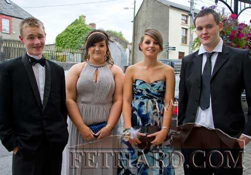 Photographed on their way to Fethard Patrician Presentation Secondary School Debs Ball are L to R: Jamie Walsh, Niamh McGrath, Jean Anglim and Joseph Thompson