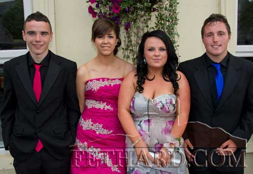 Photographed on their way to Fethard Patrician Presentation Secondary School Debs Ball are L to R: Dion Butler, Maryanne Fogarty, Orla Lawrence and Garreth Lawrence