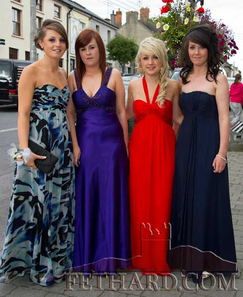 Photographed on their way to Fethard Patrician Presentation Secondary School Debs Ball are L to R: Jean Anglim, Kelly Fogarty, Jane Kenny and Emma Hayes