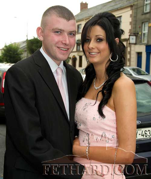 Photographed on their way to Fethard Patrician Presentation Secondary School Debs Ball are L to R: Neill Quinn and Kelly Fox
