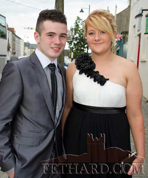 Photographed on their way to Fethard Patrician Presentation Secondary School Debs Ball are L to R: Keith Blake and Becky Fogarty