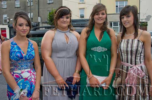 Photographed on their way to Fethard Patrician Presentation Secondary School Debs Ball are L to R: L to R: Fiona Crotty, Niamh McGrath, Danielle Breen and Laura Mullins