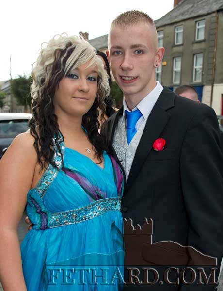 Photographed on their way to Fethard Patrician Presentation Secondary School Debs Ball are L to R: Jenny Pyke and Donal Maunsell