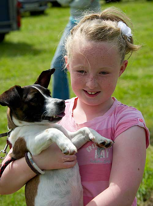 Sally Nagle and her dog 'Patch' at the Killusty Dog Show