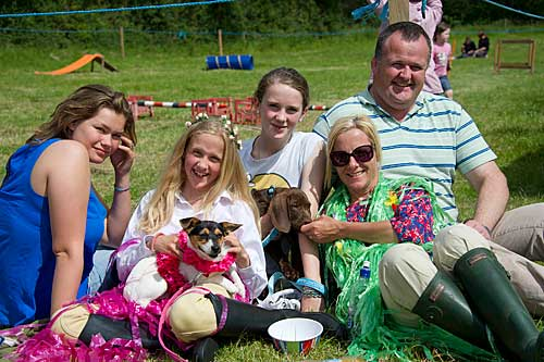 At Killusty Dog Show are L to R: Louise De Cambough, Zoë Stoke, Caroline Stokes, Melissa Stokes and John Stokes