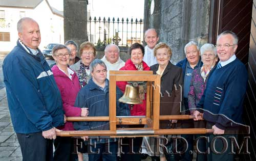 Photographed on the occasion of the Eucharist Bell visit to the Augustinian Abbey Fethard are L to R: Eddie Sheehan, Margaret Taylor, Des Martin, Annie Connolly, Joseph Taylor, Fr. Martin Crean OSA, Mary Sheehan, Fr. Pat Gayer OSA, Kathleen Walsh, Frank Coffey, Kitty Delany and Michael Kenrick.