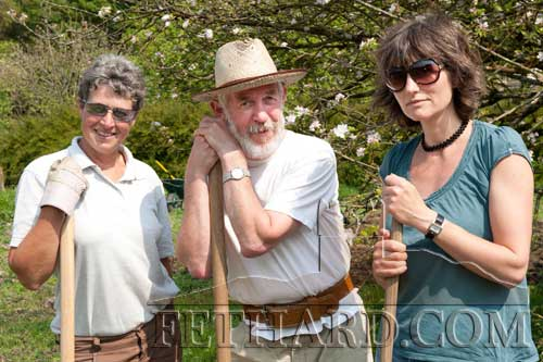 L to R: Nell McCarthy, Paul McCarthy and Lucy Moore photographed at the Spring Fayre at Clonacody House