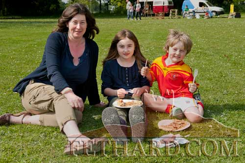 Clare Quinn photographed with her daughter Molly and son Felix at the Spring Fayre at Clonacody House.
