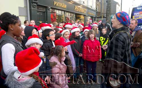 Children from Holy Trinity National School who sang Christmas Carols at the Fethard Festive Friday celebrations in Fethard last weekend