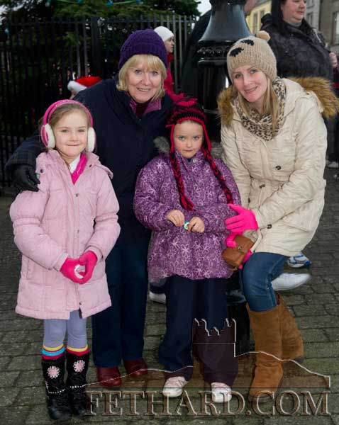Photographed at Fethard's Festive Friday last weekend are L to R: Joan O'Donohoe, with her granddaughters Carlie O'Donohoe Mulholland and Dawm O'Donohoe Mulholland and her daughter Emma O'Donohoe