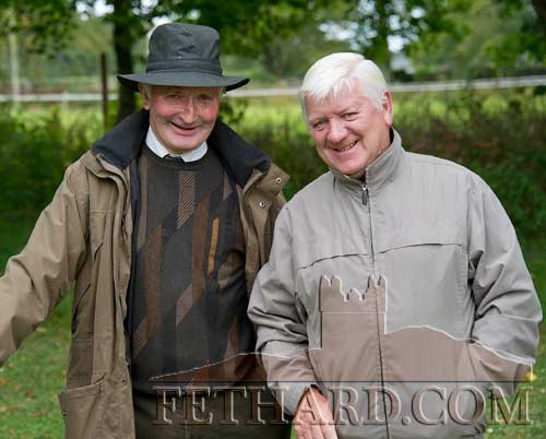 Photographed at the Annual Harvest Fete at Clonacody House are L to R: Toby Purcell and Jim Culligan