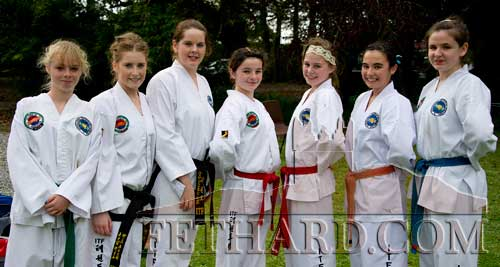 Girls from the Paul Tobin Taekwon-Do classes who gave a display at the Annual Harvest Fete at Clonacody House L to R: Robyn Schubert, Roisín O'Neill, Julianne Tobin, Kiya Conaghty Carley, Ciara Doherty, Hannah Eade and Laura Ryan.
