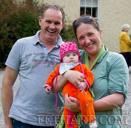 Photographed at the Annual Harvest Fete at Clonacody House are Mickey Power and Alex Koster with their baby Julianna